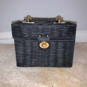 Handbags - Black  Straw Box Purse